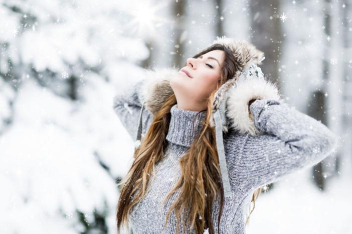 Фотосессия на снегу